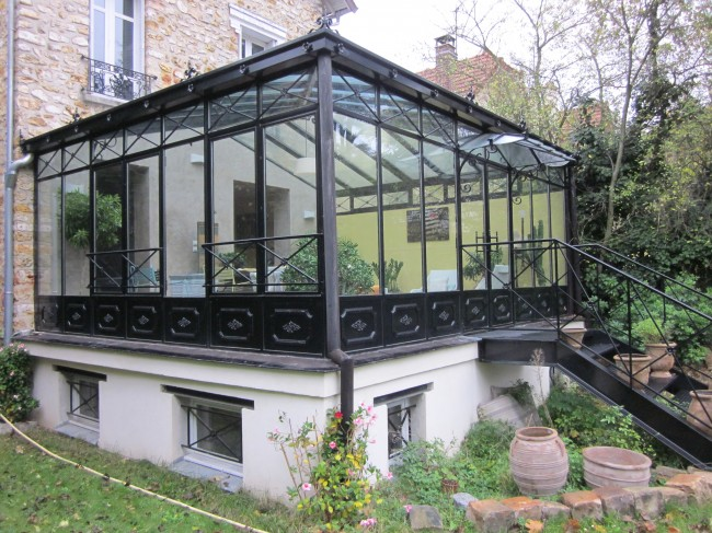 Verandas a l 39 ancienne for Verriere metallique prix